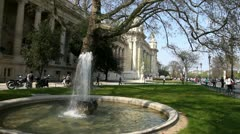 Fountain outside The Grand Palais Stock Footage