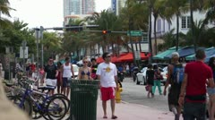 Ocean Drive People - stock footage