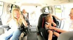 Parents Children Preparing Car Outing Stock Footage