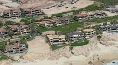 Los cabos mexico air shoot coastline Stock Footage