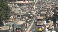 Stock Video Footage of Busy traffic in colorful street in Karachi, Pakistan