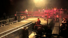 Pro Wrestling Ring Timelapse HD  - stock footage