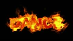 Fire dance word,burn text. Stock Footage