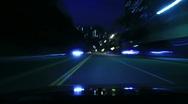 4K Driving Timelapse Night 03 VJ Loop Stock Footage