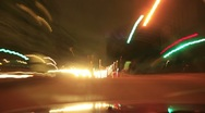 Stock Video Footage of 4K Driving Timelapse Night 07 VJ Loop