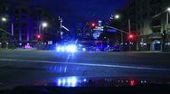 Night Driving 05 Timelapse Los Angeles Downtown VJ Loop Stock Footage