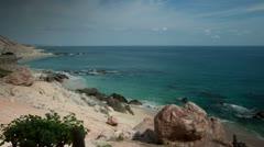 Amazing wild beach mexico desert baja california sur Stock Footage