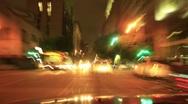 Night Driving 09 Timelapse Los Angeles Downtown VJ Loop Stock Footage
