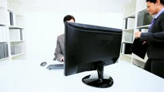 Business Manager Working with Hispanic Assistant  Stock Footage