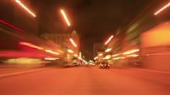 Night Driving 12 Timelapse Los Angeles Downtown VJ Loop - stock footage