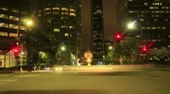 Night Driving 14 Timelapse Los Angeles Downtown VJ Loop Stock Footage