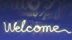 Welcome sign Stock Footage