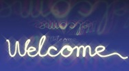Stock Video Footage of welcome sign