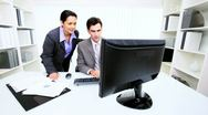 Hispanic Business Executive Successful Presentation  Stock Footage