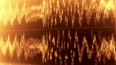 Audio Wave Form 3 Stock Footage
