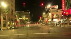 Night Driving 23 Timelapse Hollywood VJ Loop - stock footage