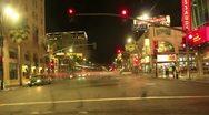 Night Driving 23 Timelapse Hollywood VJ Loop Stock Footage