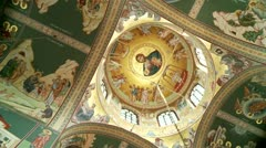 Stock Video Footage of Curch with frescos (gecian orthodox)