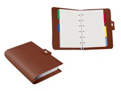 Two 3d filofax organiser folders on white Stock Illustration