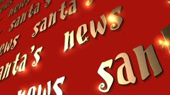VFHD 0612 Santa's News - stock footage