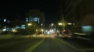 4K Driving Timelapse Night 05 Tunnel VJ Loop Stock Footage