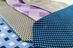 close up neck ties showing pattern - stock photo