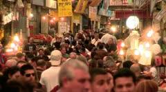 Stock Video Footage of Mahne-Yehuda Market in Jerusalem 3