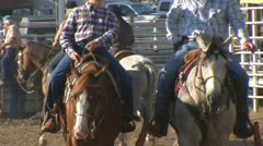Stock Footage - Horses and riders at rodeo Stock Footage