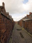 old northern british cobbled streets - stock photo