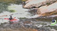 Kayakers close up 02 Stock Footage