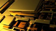 Stock Video Footage of VFHD 0332 Flying Golden Tiles