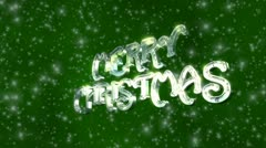 VFHD 0613 Silver Merry Christmas Stock Footage