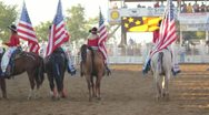 Stock Footage - Cowgirls on horseback and American - 4th of July Stock Footage