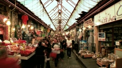 Market Time Lapse Stock Footage