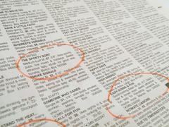Newspaper job car and personals listings page Stock Photos