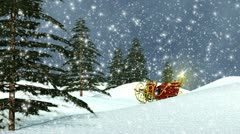 VFHD 0611 Sleigh & Christmas Trees Stock Footage