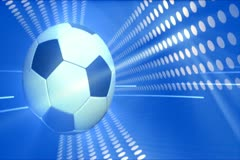 Blue Soccer Background Widescreen Stock Footage