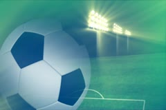 Soccer Stadium Background Widescreen Stock Footage