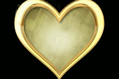 Gold Hearts Wipe Stock Footage