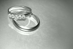 Platinum Wedding Rings Background Stock Footage