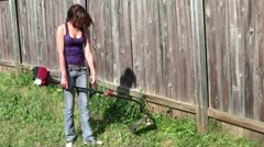 Yard Work Stock Footage