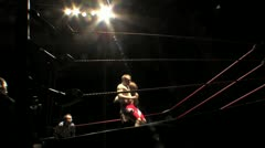 Professional Wrestling Move - Back Suplex, Low Angle HD - stock footage