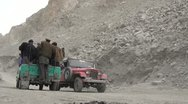 Stock Video Footage of Passenger transport in the affected Attabad area in Northern Pakistan