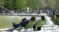 Fun and relax at the Tuileries Garden Stock Footage