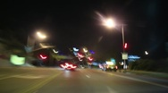 4K Driving Timelapse Night 18 Cityscape VJ Loop Stock Footage