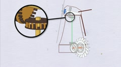Cross section Dutch windmill Stock Footage