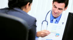 Male Clinic Doctor Office Meeting Business Advisor  - stock footage