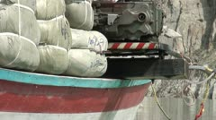 Closeup of aid transport in Northern Pakistan - stock footage