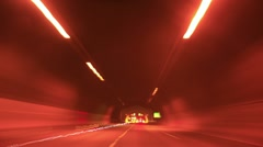 Driving Timelapse Night 39 VJ Loop Hallucinegenic Effects  - stock footage