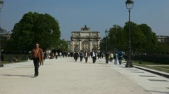 Walking in in the Tuileries Garden Stock Footage